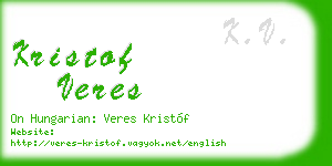 kristof veres business card